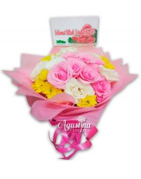1 buket mawar surabaya