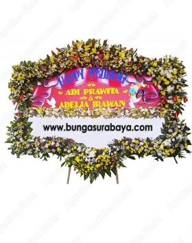 1 papan bunga pernikahan surabaya