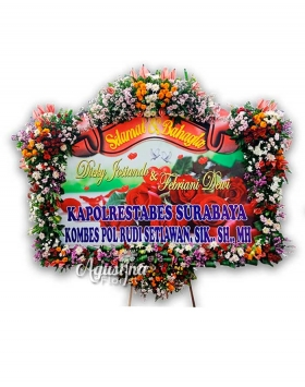 2 papan bunga pernikahan surabaya