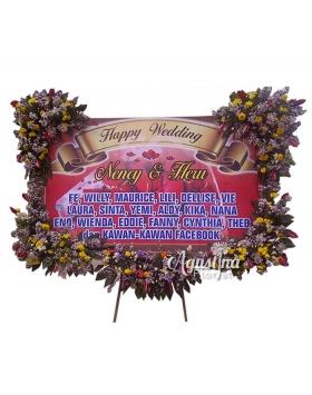 papan bunga pernikahan surabaya 04