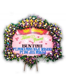 3 papan bunga pernikahan surabaya