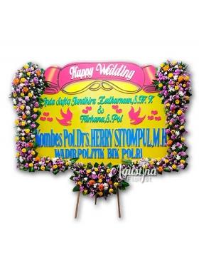 papan bunga pernikahan surabaya 05