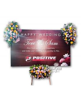 8 papan bunga pernikahan surabaya