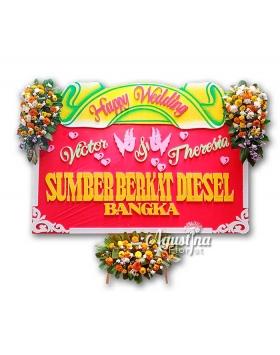 9 papan bunga pernikahan surabaya