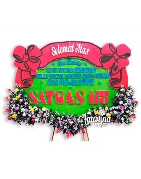 2 papan bunga selamat sukses surabaya