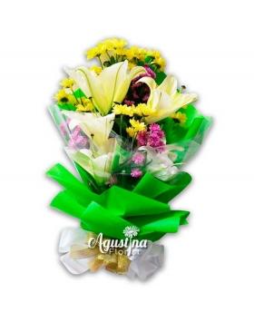 buket bunga lily asli surabaya 07