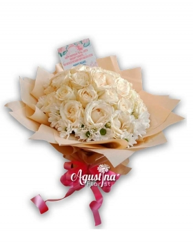 buket bunga mawar asli surabaya 06