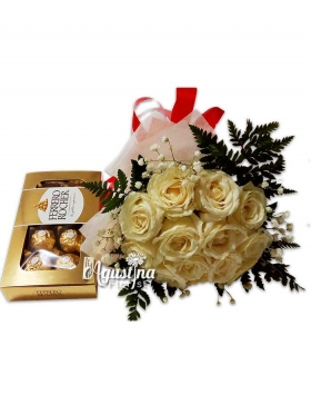 buket bunga mawar asli surabaya 08