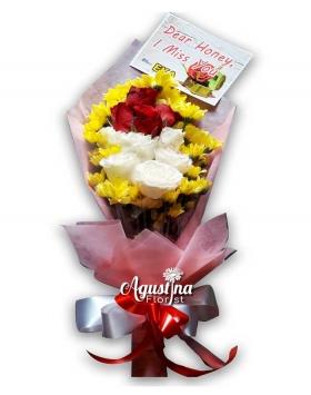 buket bunga mawar asli surabaya 09