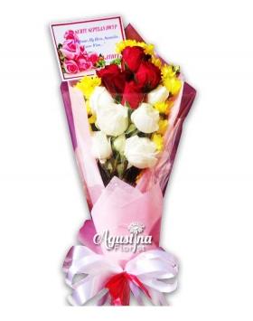 buket bunga mawar asli surabaya 11