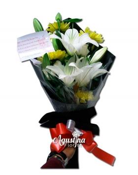 buket bunga lily asli surabaya 12