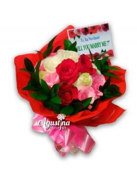 buket bunga mawar asli surabaya 010
