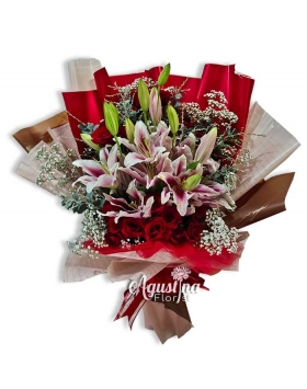 3 buket mawar surabaya