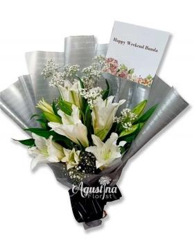 4 buket lily surabaya