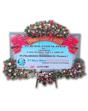 3 papan bunga selamat sukses surabaya