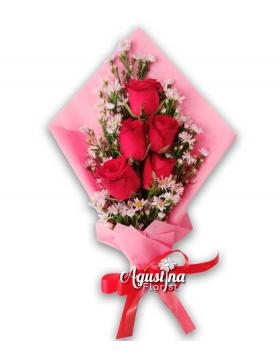 buket bunga mawar asli surabaya 14