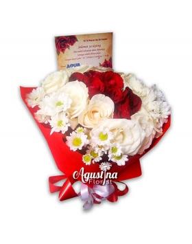 buket bunga mawar asli surabaya 13
