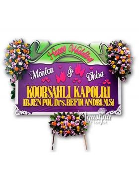 11 papan bunga pernikahan surabaya
