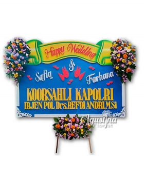 papan bunga pernikahan surabaya 13